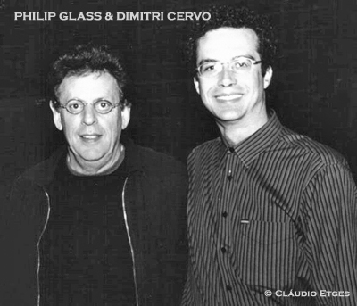Philip Glass and Dimitri Cervo